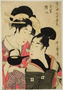 K. Utamaro,Komurasaki and Gonpachi, c. 1798-99