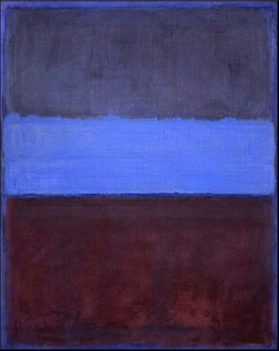 Mark Rothko, No.61, Rust and blue, 1953,olio su tela, Museum of Contemporary Art, Los Angeles.