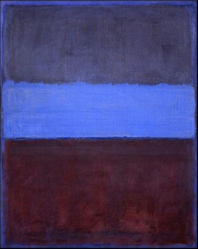 Mark Rothko, No.61, Rust and blue, 1953,olio su tela, Museum of Contemporary Art, Los Angeles.