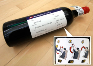 Boarding Pass, vino Shiraz , Australia, Premio Packeging Internazionale 2005.