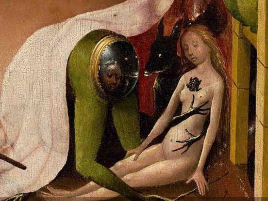 H. Bosch , particolare del trittico Il Giardino delle Delizie, olio su tavola, 1480-90 circa. Museo Del Prado, Madrid.